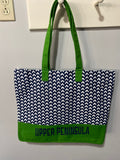 UP Patterned Bottomed Canvas Beach Tote