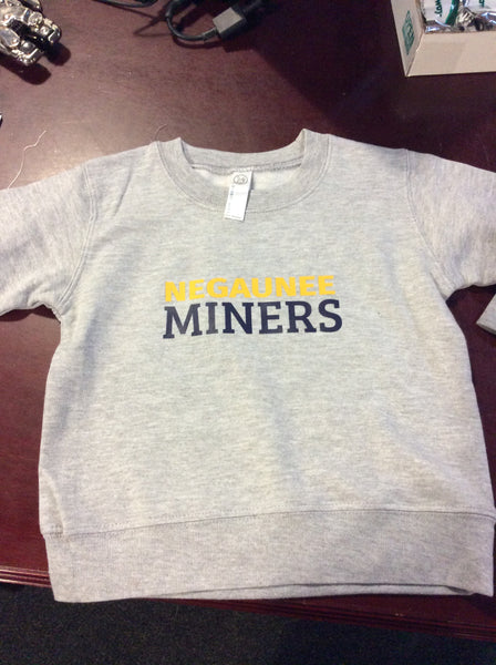 Toddler Negaunee Miners Crew Neck Sweatshirt