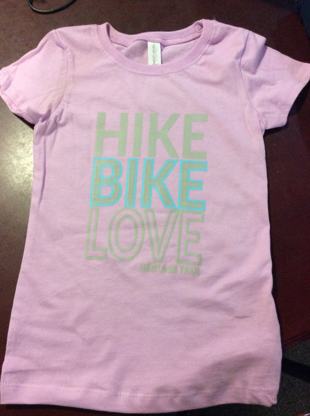 Girls Hike Bike Love T-shirt