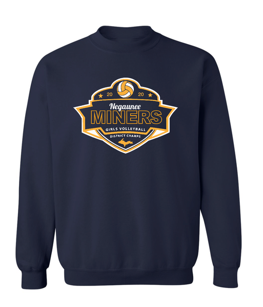 Negaunee Volleyball 2020 District Champs Crewneck - Unisex