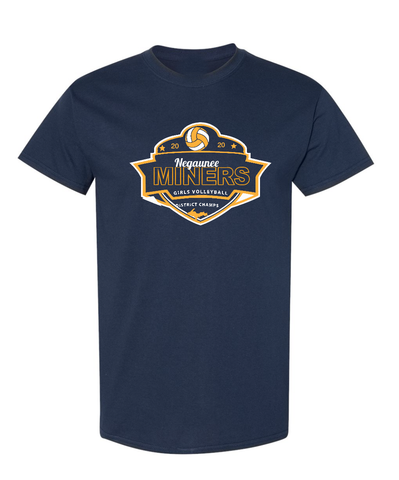 Negaunee Volleyball 2020 District Champs T-Shirt - Unisex
