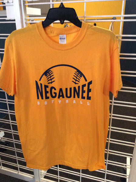 Negaunee Softball Gold Shirt