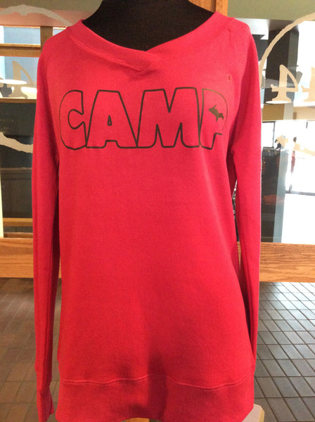 Women's V-Neck CAMP Sweatshirt