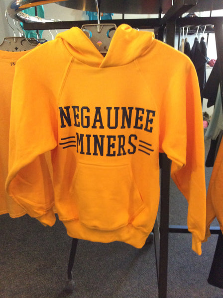 Youth Negaunee Miners Cubed Hooded Sweatshirt