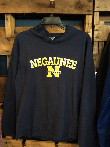 Hooded LS Negaunee Miners Shirt