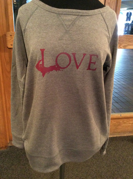 Love vintage sport french terry sweatshirt