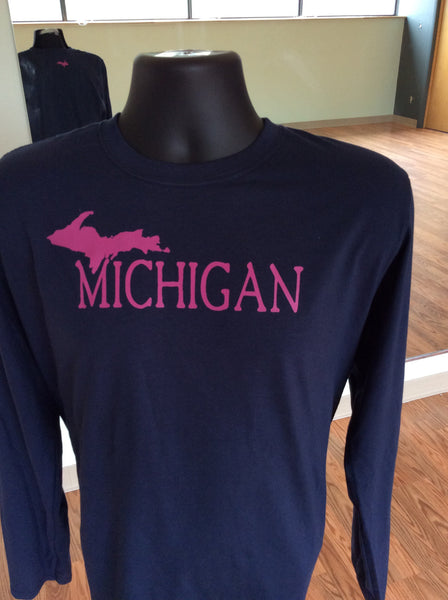 Upper Michigan Softstyle Long Sleeve T
