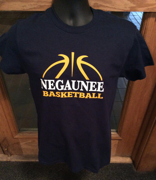 Negaunee Basketball Navy T-Shirt
