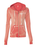 Ladies Angel Fleece Sanded Full Zip Hooded Sweatshirt