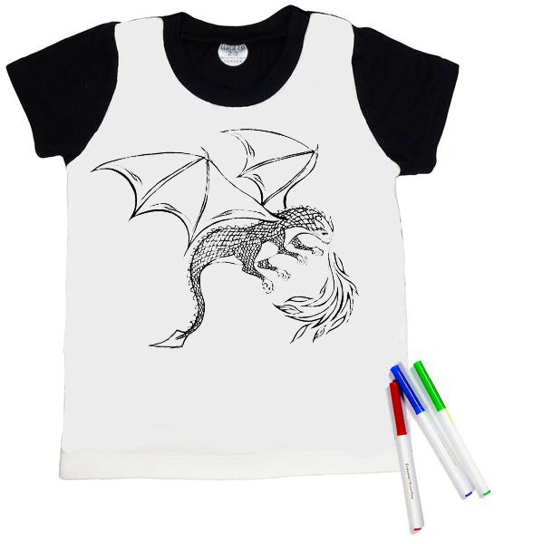 T-Shirt à colorier DRAGON