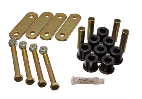 "Energy Suspension Mustang Heavy Duty Rear Leaf Spring Shackle & Polyurethane Bush Kit (1/2"" Shackle) 64-73"