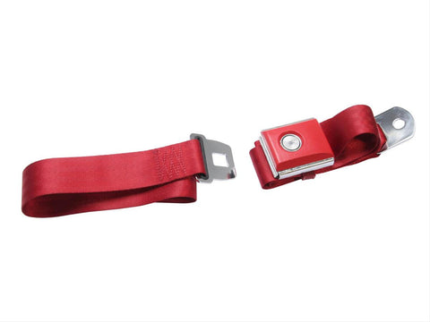 Mustang Lap/Seat Belts With Push Button Dark Red 65-73