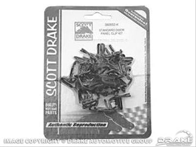Scott Drake Mustang Door Card Clips Standard 64-70 (& 68 Deluxe)