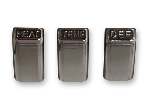 Mustang Heater Control Knobs Chrome 68 Non-AC
