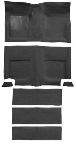 Mustang Moulded Carpet Set Loop Pile Black Fastback with Fold Downs 67-68
