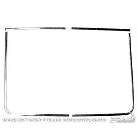 Mustang Rear Screen Chrome Trim 67-68 Fastback