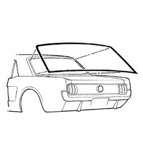 Mustang Rear Screen Coupe 64-68 Moulding/Seal