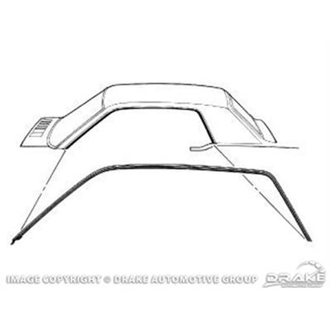 Mustang Roof Rail Door Seals Coupe 64-66