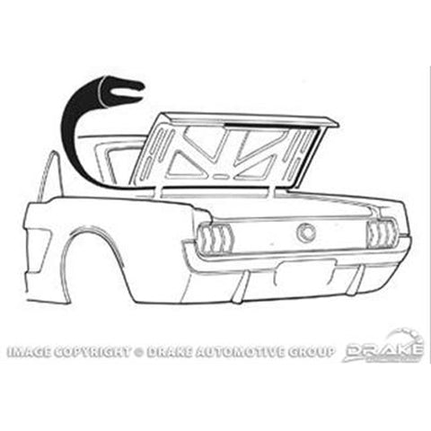 Mustang Trunk/Boot Seal Coupe/Convertible 64-70