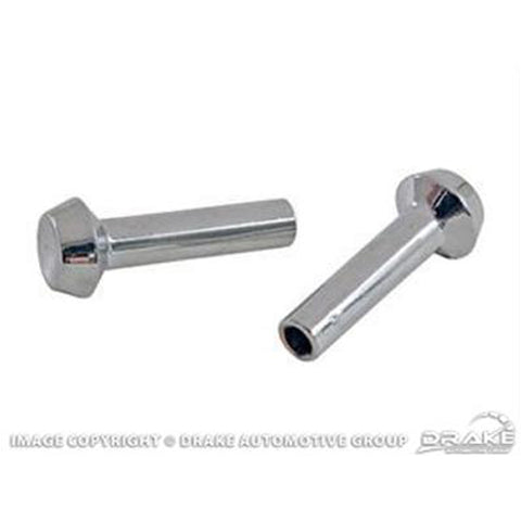 Mustang Door Lock Knobs Chrome 67