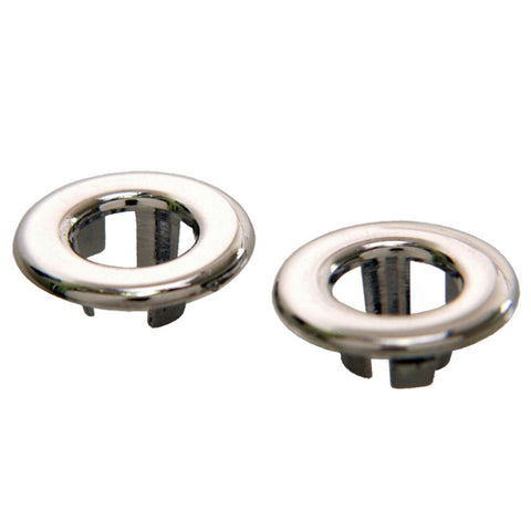 Mustang Door Lock Grommets Chrome 65-73