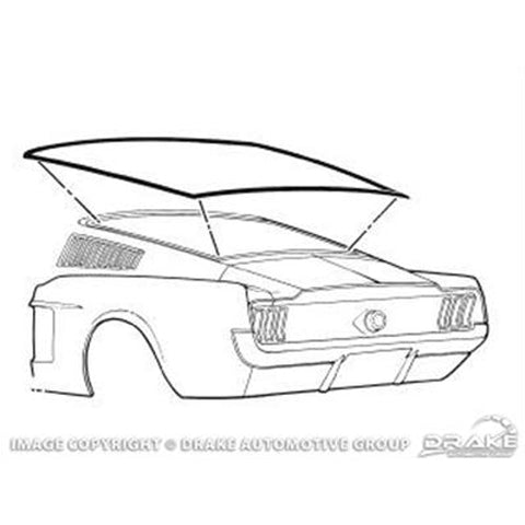 Mustang Rear Screen Fastback 67-68 Moulding/Seal