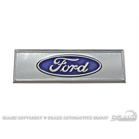 Mustang Reproduction Sill Protector Emblem Ford Oval Logo