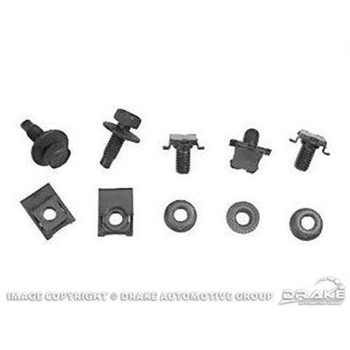 Mustang Stone Deflector Mounting Kit 67-68