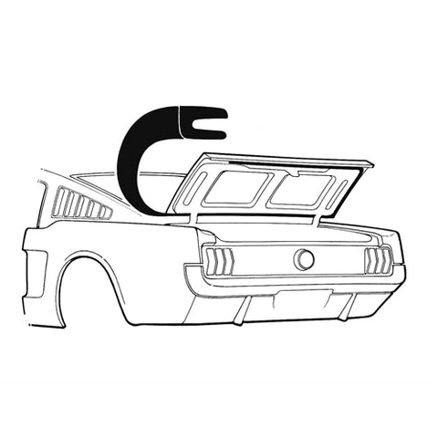 Mustang Trunk/Boot Seal Fastback 65-66