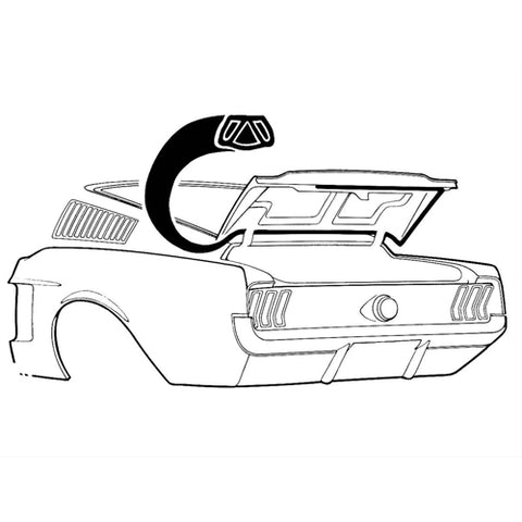 Mustang Trunk/Boot Seal Fastback 67-68
