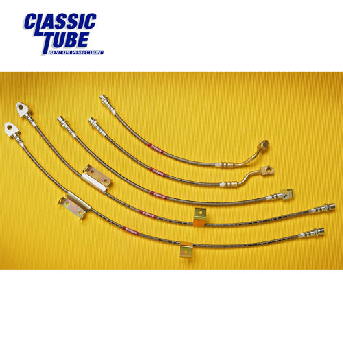 Mustang Stainless Steel Brake Hose Set 67