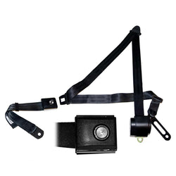 Mustang Retractable Seat Belts 3-Point With Push Button 65-73