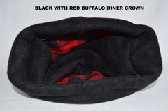 DOUBLE DOME INSULATOR YOOPER CHOOK BLACK WITH RED BUFFALO LINING