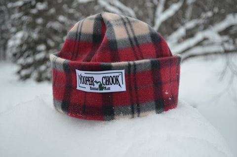 CHARCOAL/DEEP RED PLAID YOOPER CHOOK