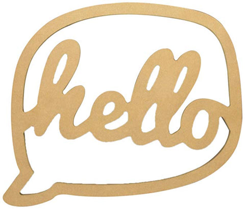 Hello Bubble Plaque for DIY Decor Painting Decoupage