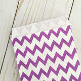 Purple Chevron Food Favor Treat bags party