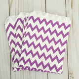 Purple Chevron Paper Treat and Favor Bags - Food Grade