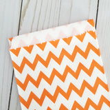 orange chevron Paper Food Favor Treat bags party