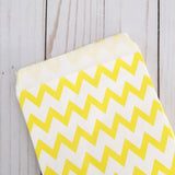 Yellow chevron Paper Food Favor Treat bags party