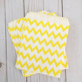 Yellow Chevron Paper Treat and Favor Bags - Food Grade