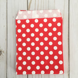Red Polka Dot Paper Treat and Favor Bags - Food Grade