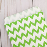 green chevron Paper Food Favor Treat bags party