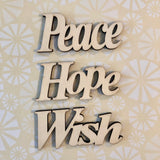 Copy of Happy Grateful Sunshine Wood Typography Word Cutouts Embellishments