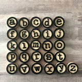 Wood Alphabet Typewritter Tiles Scrapbooking Altered Art