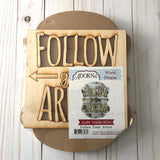 Follow Your Arrow Wood Plaque Kit for Painting Decoupage