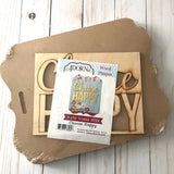 Choose Happy Wood Plaque Kit for Painting Decoupage