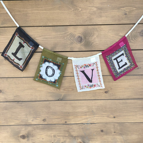 Love ~ Inspiration Banner Pennant Flags