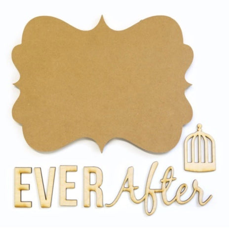 Ever After Wood Plaque Kit for Painting Decoupage