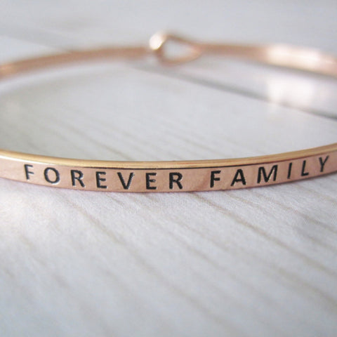 Adoption Day Forever Family Bracelet - Brass Inspirational Mantra