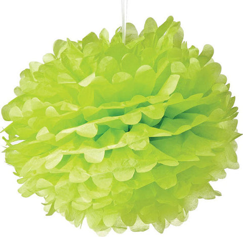 Lime Green Tissue Paper Pom Poms - set of 3